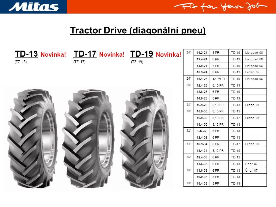 TD-19 Novinka.(TZ 19) TD-13 Novinka. (TZ 13) Tractor Drive (diagonální pneu) TD-17 Novinka.