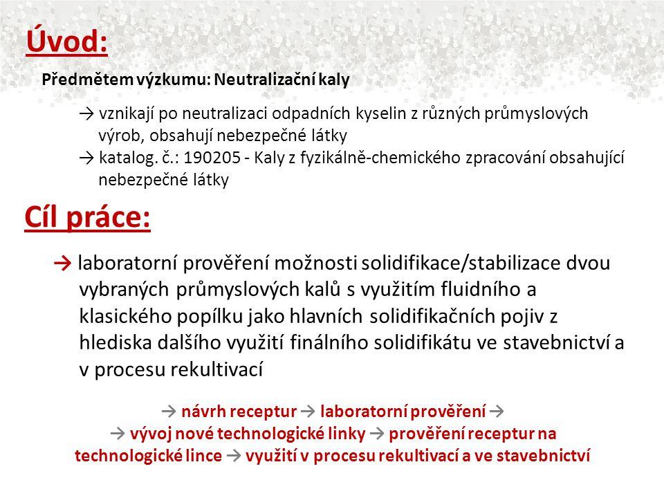 → vznikají po neutralizaci odpadních kyselin z různých průmyslových výrob, obsahují nebezpečné látky → katalog. č.: 190205 - Kaly z fyzikálně-chemické