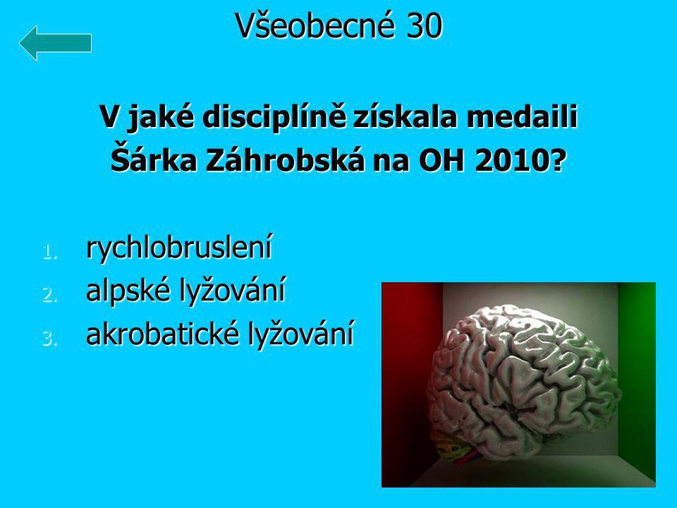V jaké disciplíně získala medaili Šárka Záhrobská na OH 2010.