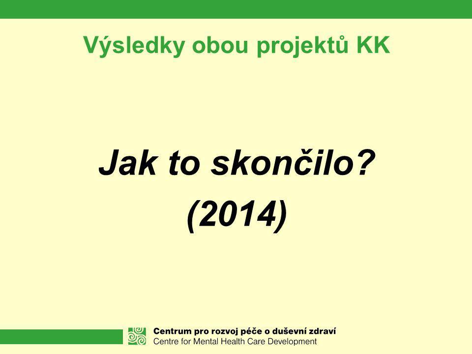 Výsledky obou projektů KK Jak to skončilo? (2014)