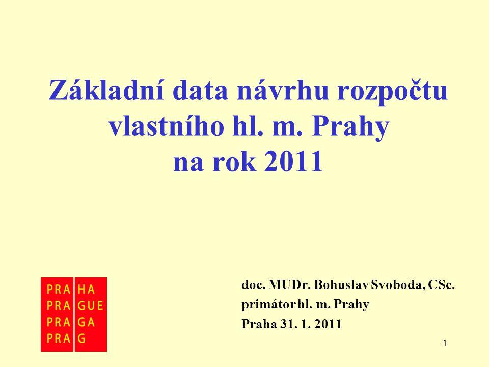 11 Základní data návrhu rozpočtu vlastního hl. m.