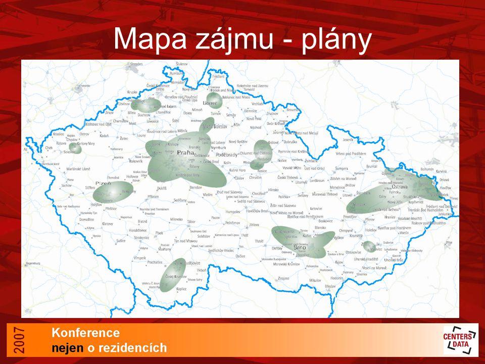 Mapa zájmu - plány