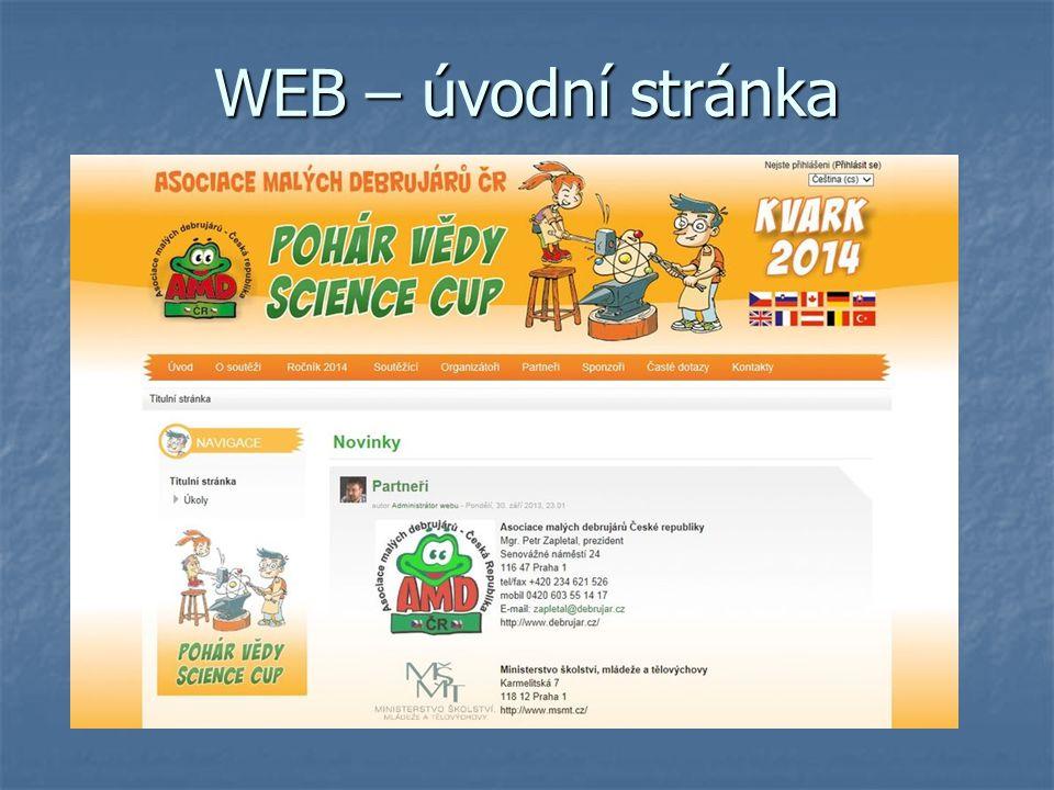 WEB – úvodní stránka