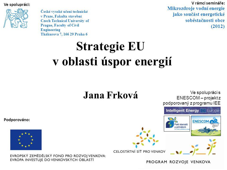 "Priorita EU: ""20 20 20 do roku 2020 Název pro legislativní balíček EU (přijatý v r."