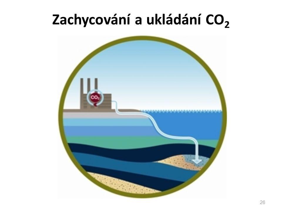 Zachycování a ukládání CO 2 26
