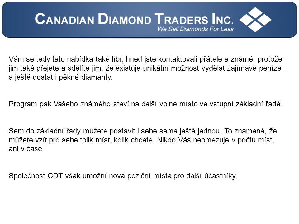 Vám se tedy tato nabídka také líbí, hned jste kontaktovali přátele a známé, protože jim také přejete a sdělíte jim, že existuje unikátní možnost vydělat zajímavé peníze a ještě dostat i pěkné diamanty.