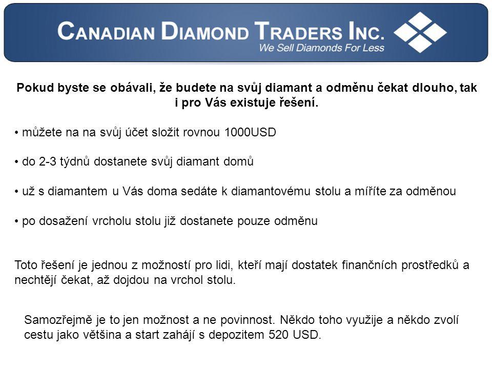 Pokud byste se obávali, že budete na svůj diamant a odměnu čekat dlouho, tak i pro Vás existuje řešení.