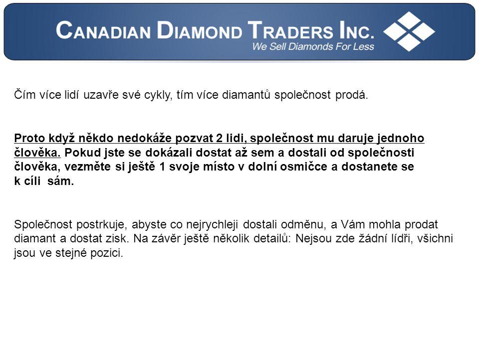Čím více lidí uzavře své cykly, tím více diamantů společnost prodá.