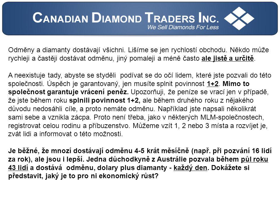 Odměny a diamanty dostávají všichni.Lišíme se jen rychlostí obchodu.