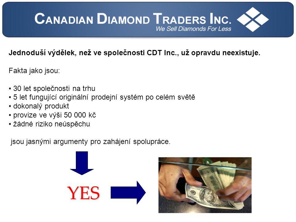 Jednoduší výdělek, než ve společnosti CDT Inc., už opravdu neexistuje.