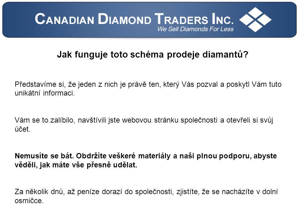 Jak funguje toto schéma prodeje diamantů.