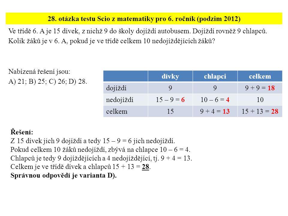 ?, 11, 23, 47, 95, 191,...Které z následujících čísel patří na první místo uvedené číselné řady.