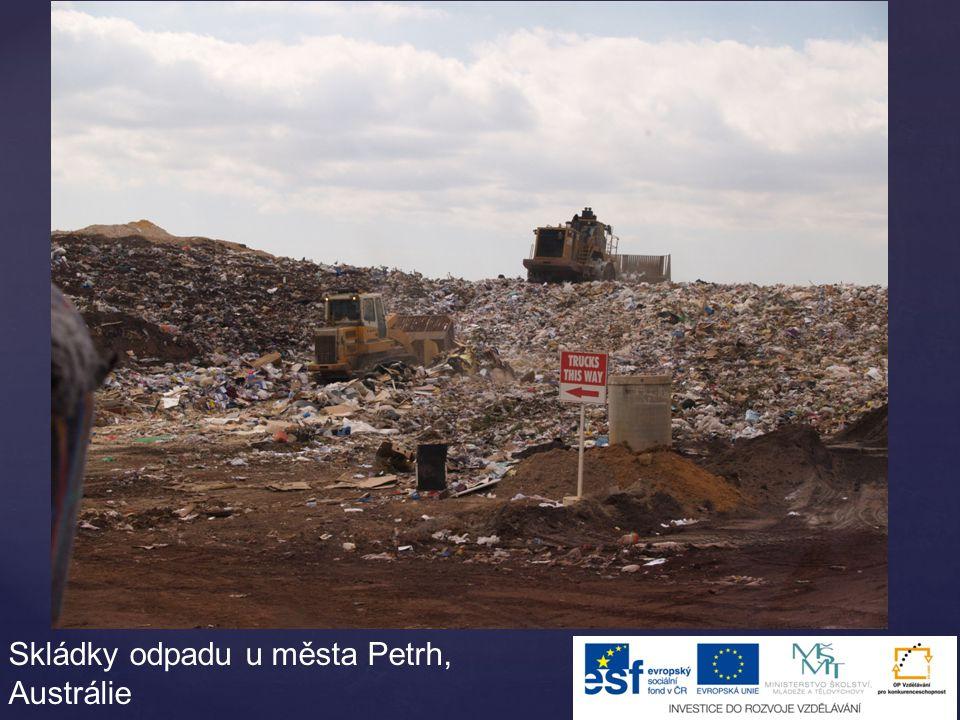 Skládky odpadu u města Petrh, Austrálie