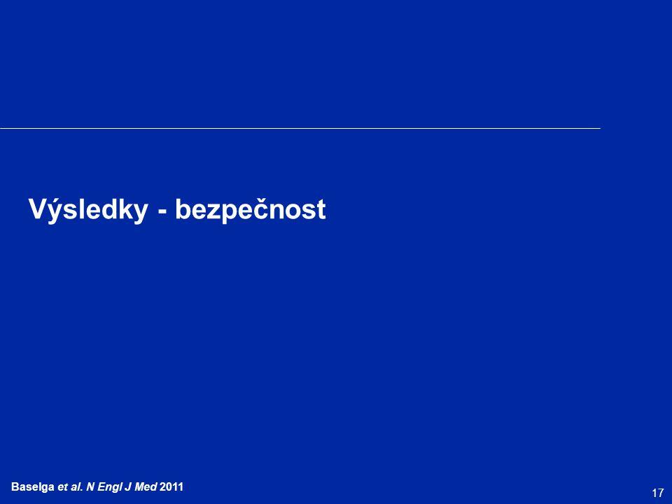 17 Baselga et al. N Engl J Med 2011 Výsledky - bezpečnost
