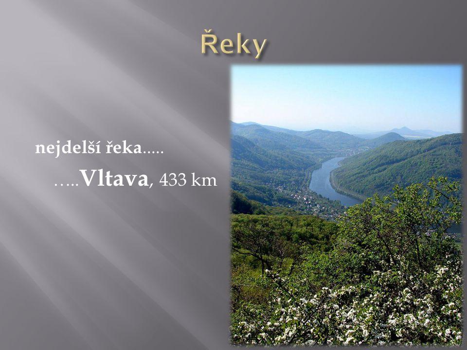 nejdelší řeka..... ….. Vltava, 433 km