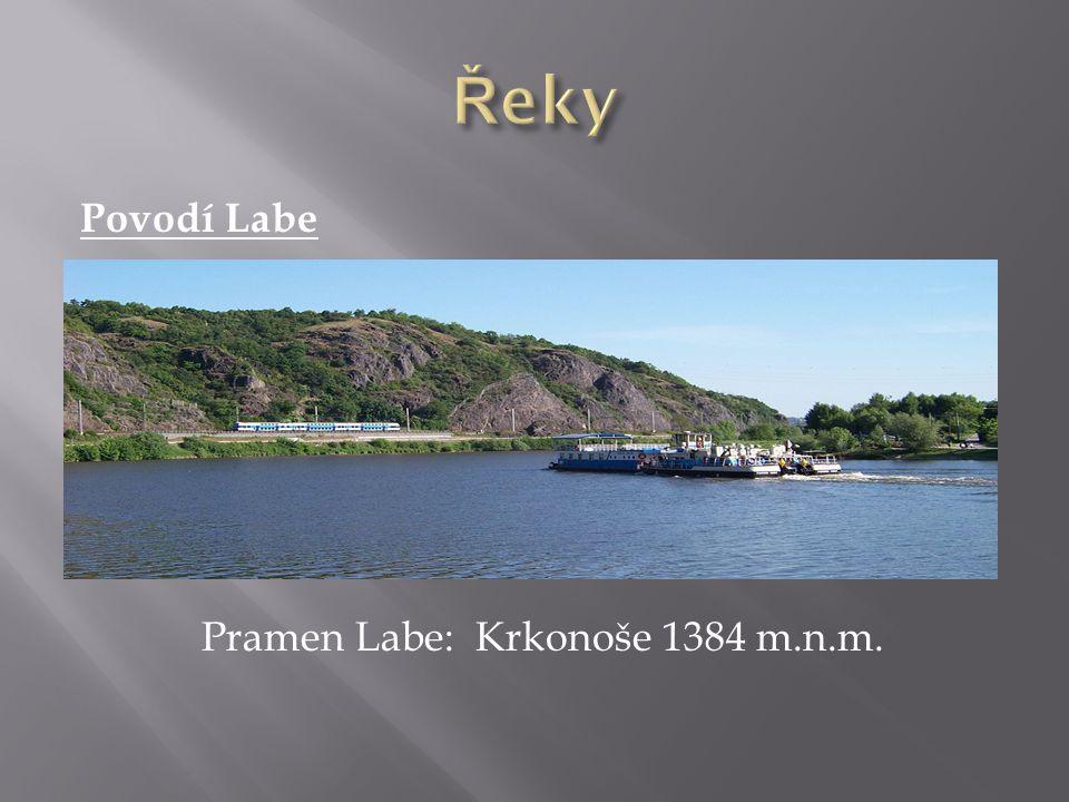 Povodí Odry Pramen Odry: Oderské vrchy 634 m n. m.