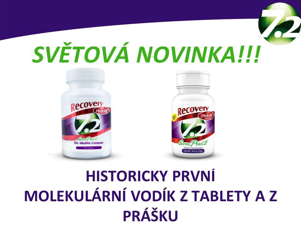 HISTORICKY PRVNÍ MOLEKULÁRNÍ VODÍK Z TABLETY A Z PRÁŠKU SVĚTOVÁ NOVINKA!!! Patentem chráněný produkt