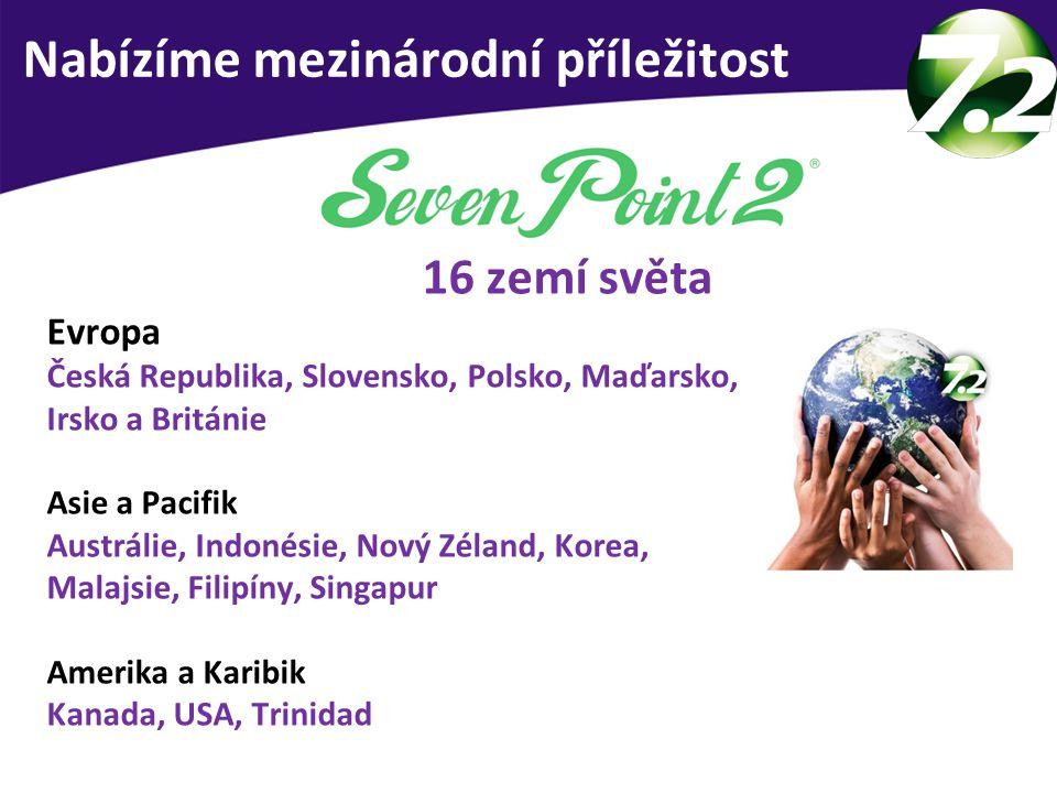 16 zemí světa Evropa Česká Republika, Slovensko, Polsko, Maďarsko, Irsko a Británie Asie a Pacifik Austrálie, Indonésie, Nový Zéland, Korea, Malajsie,