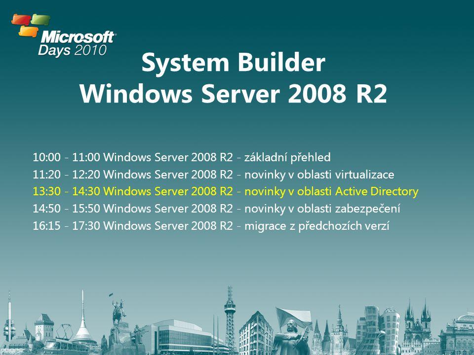 Windows Server 2008 R2 novinky v oblasti Active Directory Miroslav Knotek, Microsoft MVP IT Senior Consultant | KPCS CZ, s.r.o.