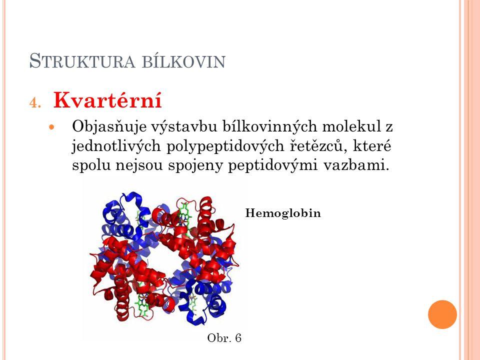 S TRUKTURA BÍLKOVIN 4.