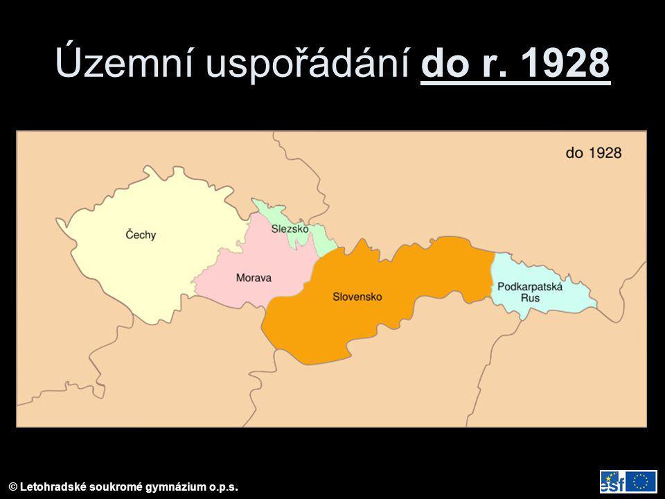 © Letohradské soukromé gymnázium o.p.s. Územní uspořádání do r. 1928