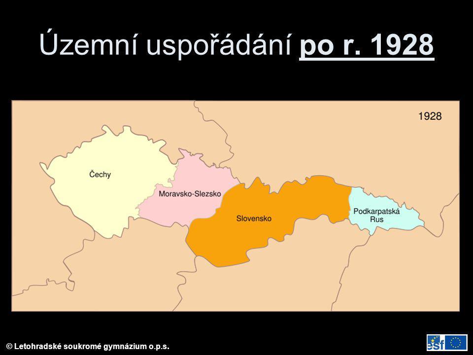 Územní uspořádání po r. 1928
