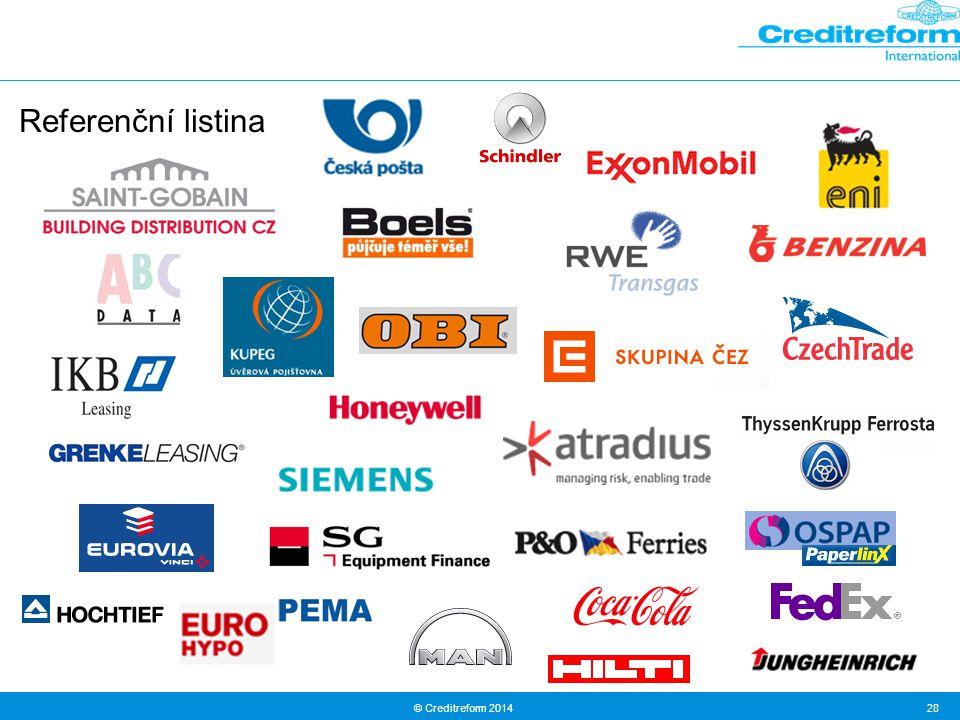 © Creditreform 2014 28 Referenční listina