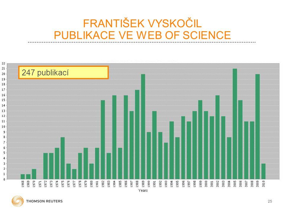 FRANTIŠEK VYSKOČIL PUBLIKACE VE WEB OF SCIENCE 25 247 publikací