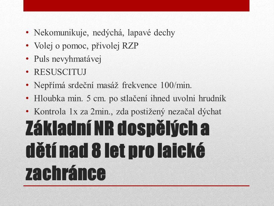 KRP u dětí od 1 - 8 roku - prof.zachránce Puls na a.
