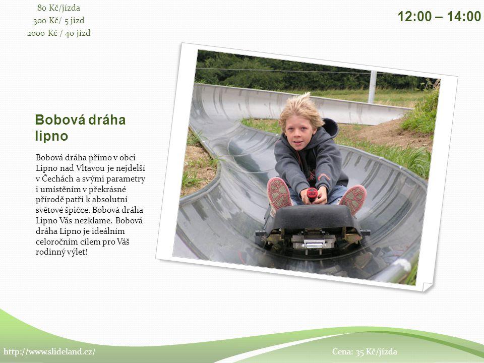 Bobová dráha lipno Bobová dráha přímo v obci Lipno nad Vltavou je nejdelší v Čechách a svými parametry i umístěním v překrásné přírodě patří k absolutní světové špičce.