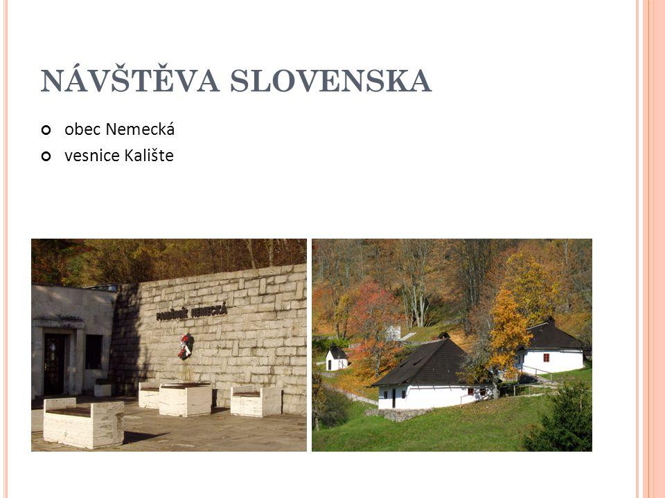 NÁVŠTĚVA SLOVENSKA obec Nemecká vesnice Kalište