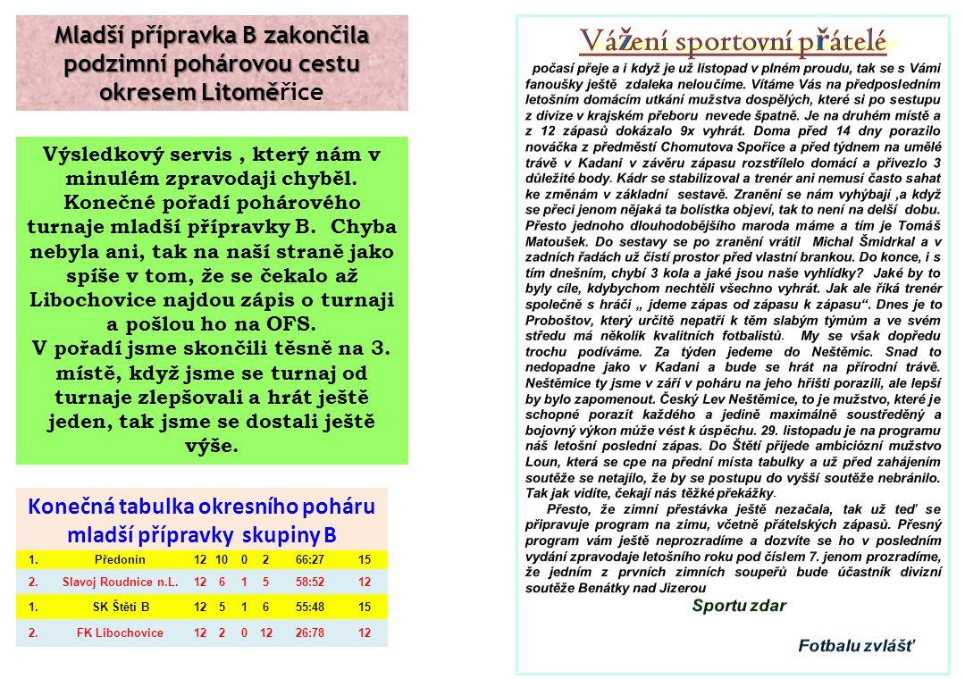 Na internetových stránkách Kadaně se po zápase Kadaň-Štětí 8.11.2014 objevila informace viz.
