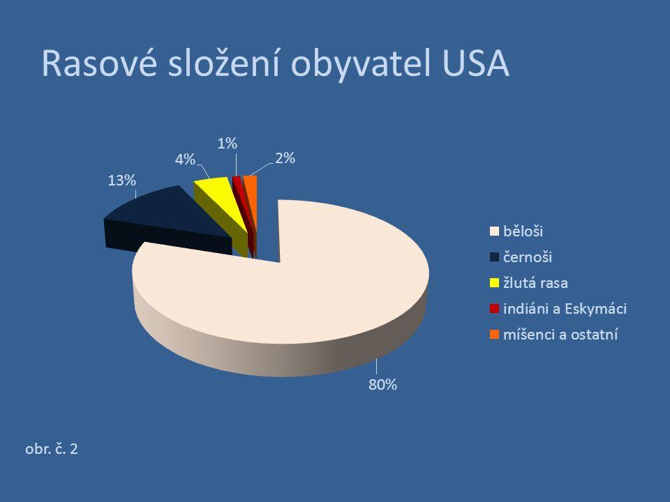 Obyvatelstvo USA podle původu – národnostní složení obr. č. 3