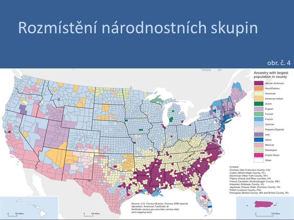 Domorodé indiánské obyvatelstvo obr. č. 7 Indiánské rezervace v USA