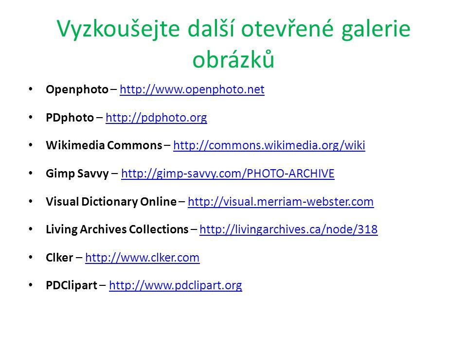 Licence I v otevřených galeriích podléhají obrázky licencím a autorským právům.