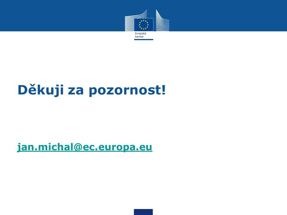 Děkuji za pozornost! jan.michal@ec.europa.eu