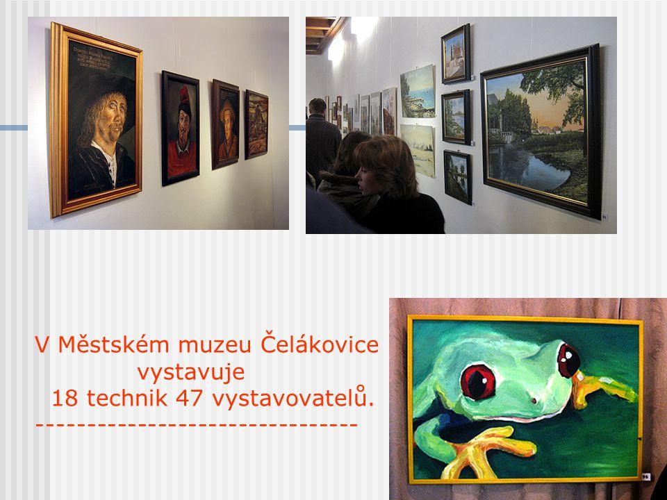 V Městském muzeu Čelákovice vystavuje 18 technik 47 vystavovatelů. --------------------------------
