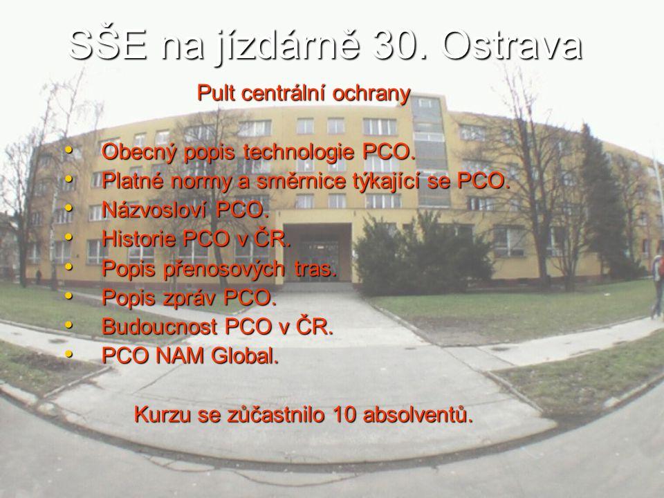 SŠE na jízdárně 30.Ostrava Pult centrální ochrany Obecný popis technologie PCO.