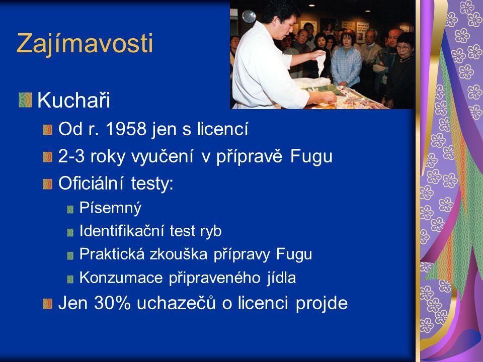 Zajímavosti Kuchaři Od r.