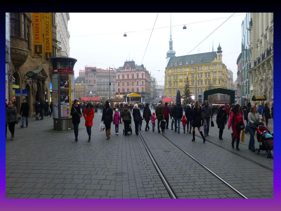 Vánoční výzdoba-Masarykova ulice
