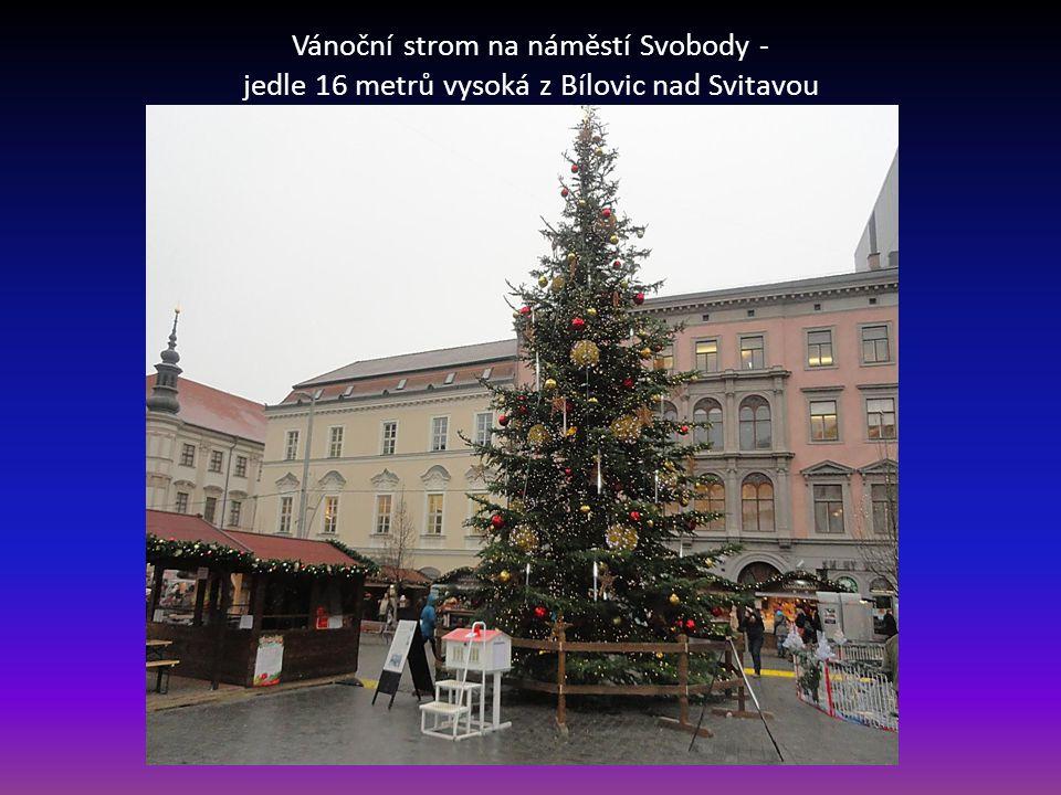 ….. Již tradičně každým rokem probíhají Vánoce v krajském městě Brně spojené s Vánočními trhy. Tyto jsou na třech místech v centru města Náměstí Svobo