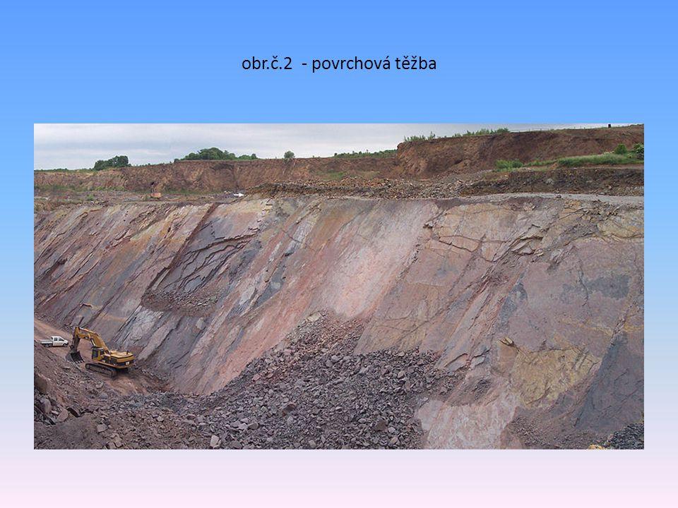 obr.č.2 - povrchová těžba