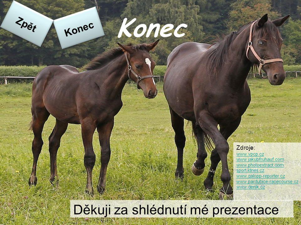 Konec Děkuji za shlédnutí mé prezentace Konec Zpět Zdroje: www.vpcp.cz www.jakubfruhauf.com www.photoextract.com sport.idnes.cz www.galopp-reporter.cz