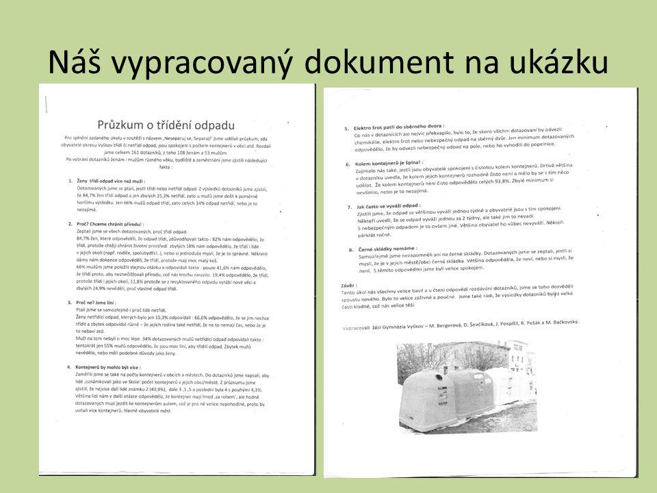 Náš vypracovaný dokument na ukázku