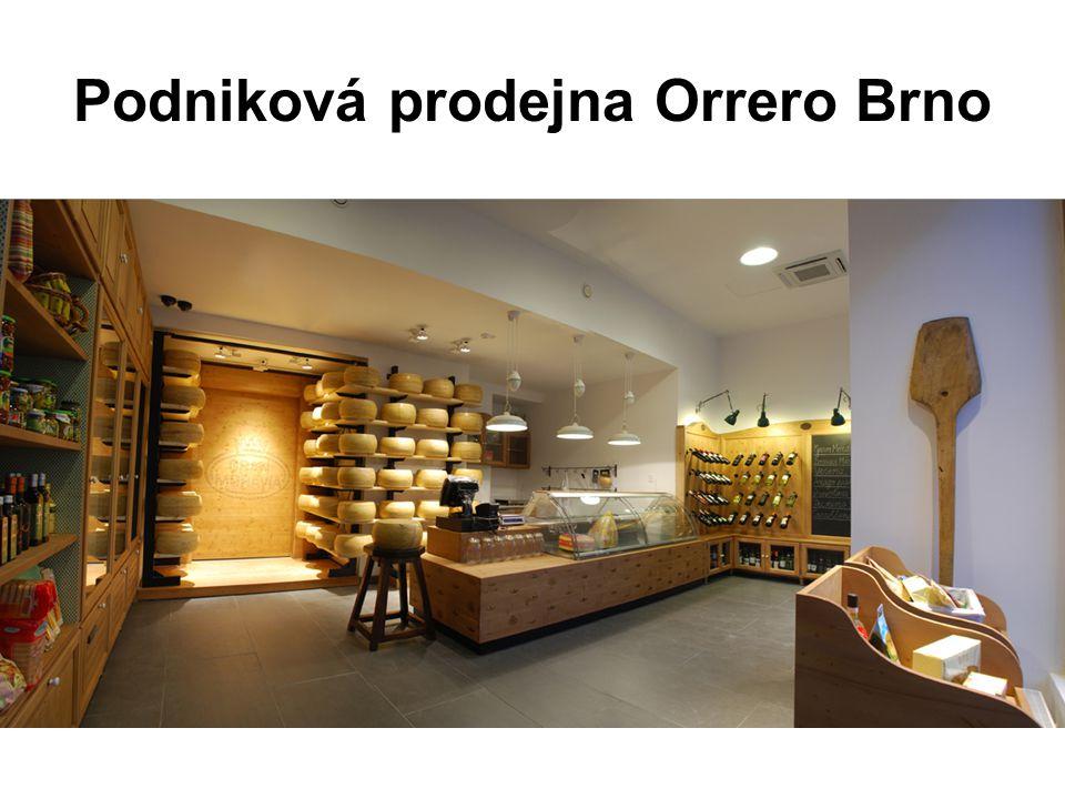 Podniková prodejna Orrero Brno