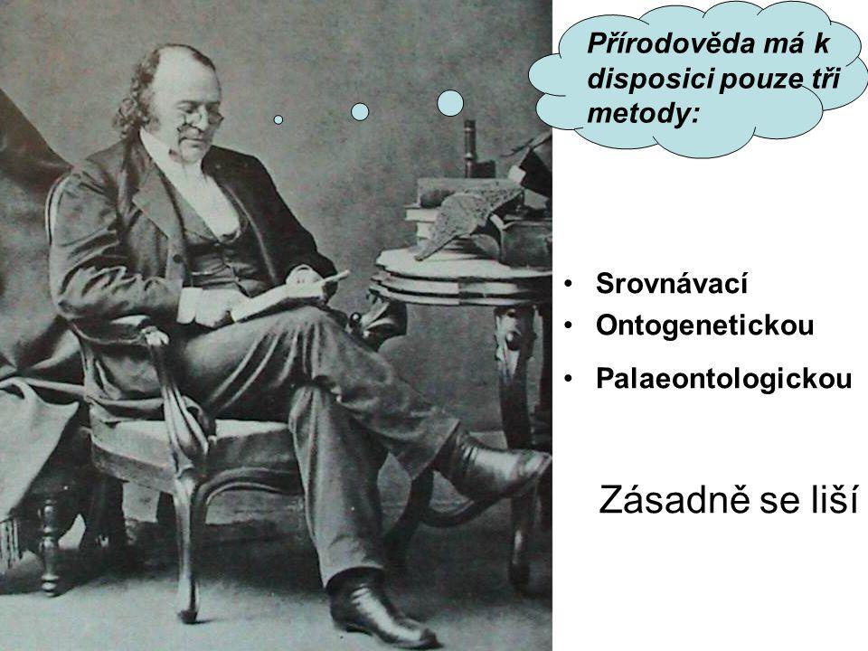 Srovnávací Ontogenetickou Palaeontologickou Zásadně se liší Přírodověda má k disposici pouze tři metody: