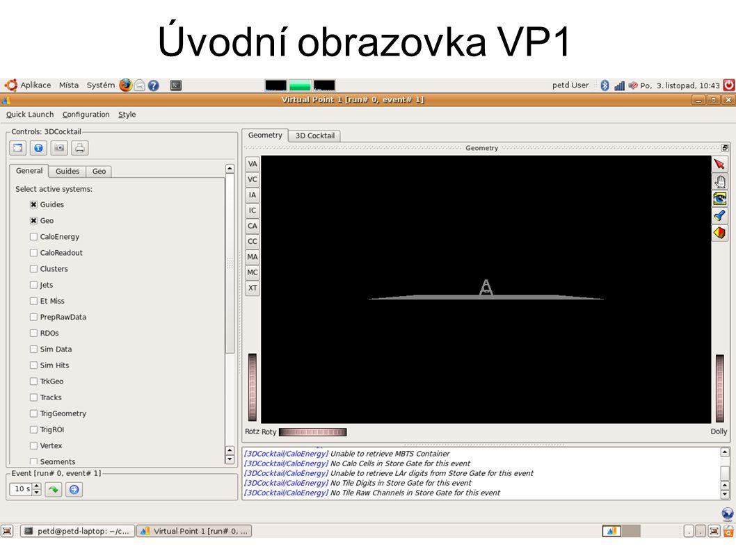 Úvodní obrazovka VP1
