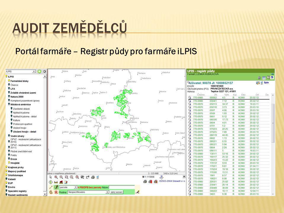 Portál farmáře – Registr půdy pro farmáře iLPIS