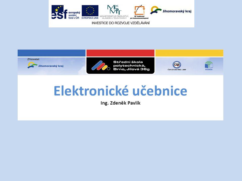 Hlavním cílem tvorby elektronických učebnic je zlepšení podmínek pro výuku technických oborů, včetně zvyšování motivace žáků ke vzdělávání se.
