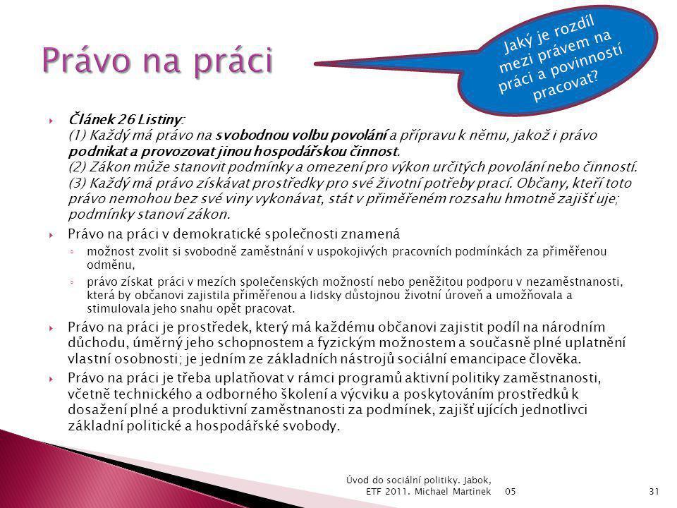  Článek 26 Listiny: (1) Každý má právo na svobodnou volbu povolání a přípravu k němu, jakož i právo podnikat a provozovat jinou hospodářskou činnost.